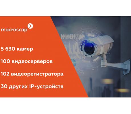 Количество поддерживаемых Macroscop камер достигло 5630